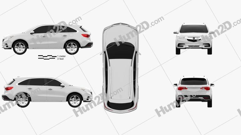 Acura MDX concept 2014 car clipart