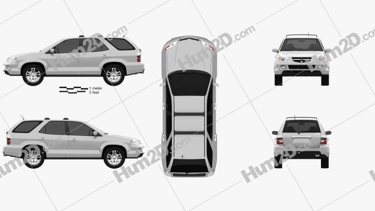 Acura MDX 2003 Clipart