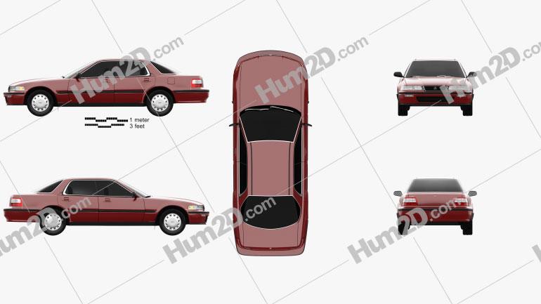 Acura Vigor 1991 Clipart Image