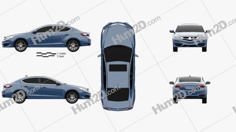 Acura ILX (DE) 2016 car clipart