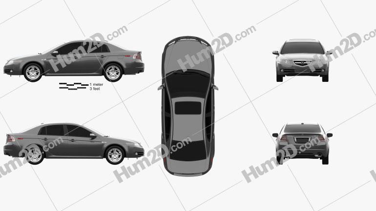 Acura TL 2007 car clipart