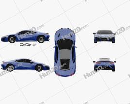 Acura NSX 2016 Clipart