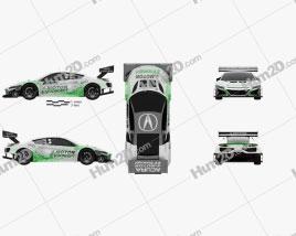 Acura NSX EV 2016 Clipart