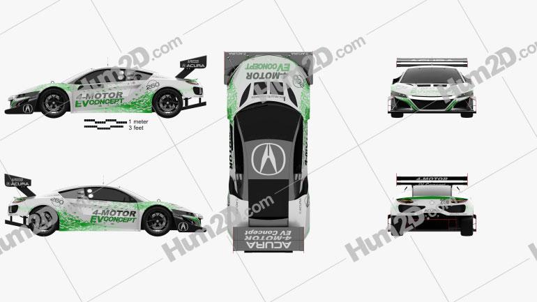 Acura NSX EV 2016 car clipart