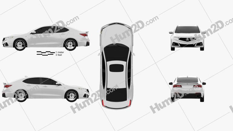 Acura TLX A-Spec 2017 car clipart