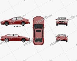 Acura RLX Sport Hybrid SH-AWD with HQ interior 2017 car clipart