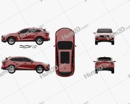 Acura RDX Prototype 2018 Clipart