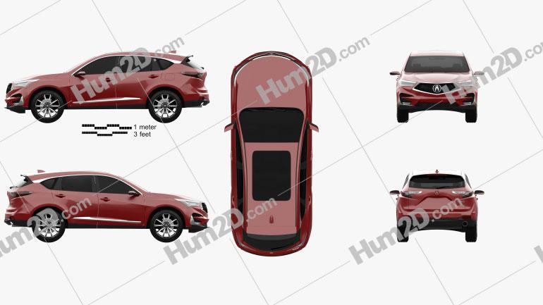 Acura RDX Prototype 2018 car clipart