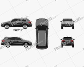 Acura MDX 2014 Clipart
