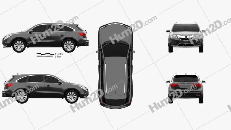 Acura MDX 2014 car clipart