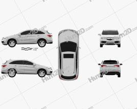 Acura RDX RU-spec 2014 Clipart