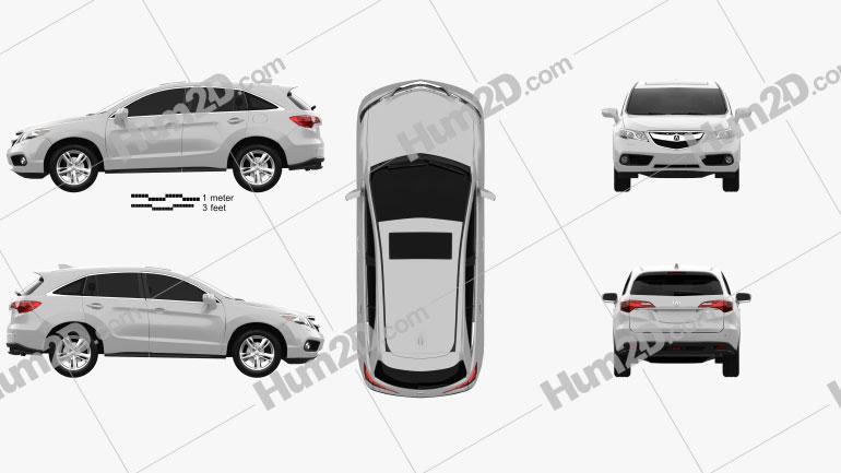 Acura RDX RU-spec 2014 car clipart