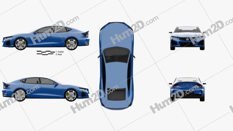Acura Type-S 2019 car clipart