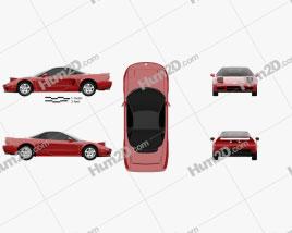 Acura NSX 1990 car clipart