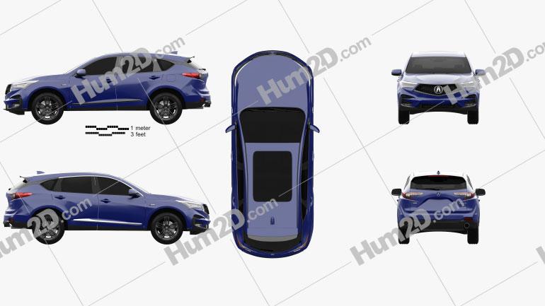 Acura RDX A-spec 2019 car clipart