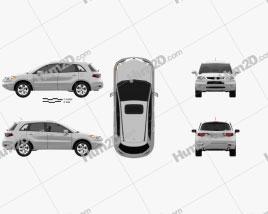 Acura RDX 2006 Clipart