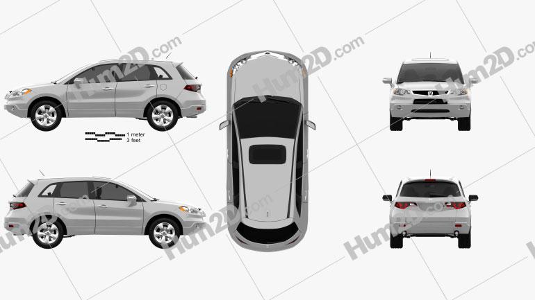 Acura RDX 2006 Clipart Image