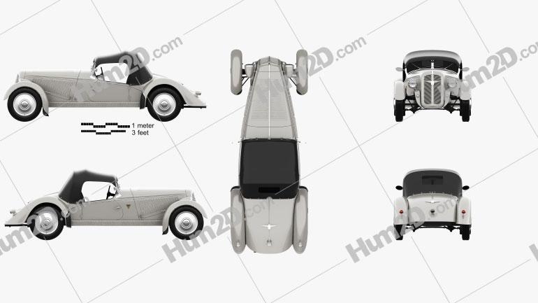 Adler Trumpf Junior Sport Roadster 1935 car clipart