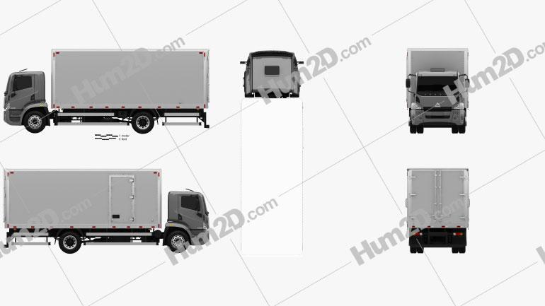 Agrale 14000 Box Truck 2012 clipart