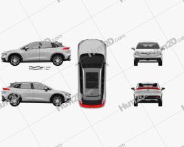 Aion LX 2020 car clipart