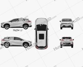 Aion V 2020 car clipart