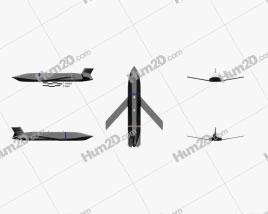 AGM-158C LRASM Aircraft clipart