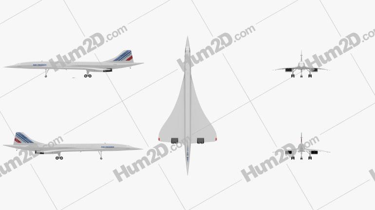 Aerospatiale-BAC Concorde Aircraft clipart