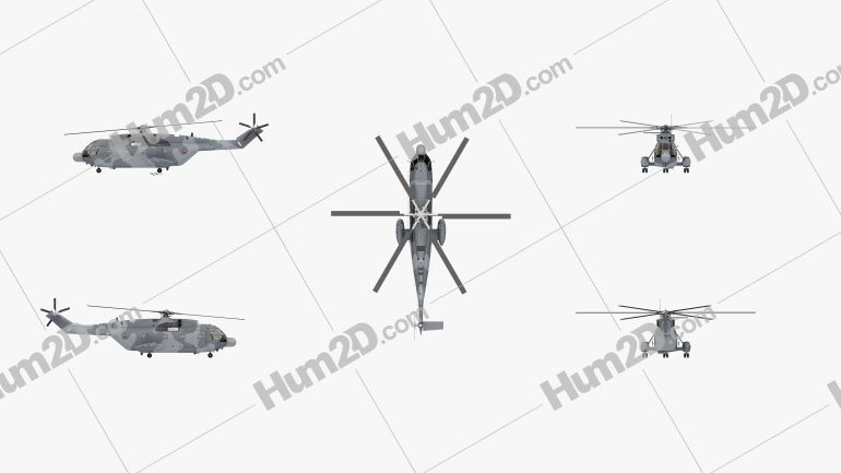Aerospatiale SA-321 Super Frelon Transport Helicopter Aircraft clipart