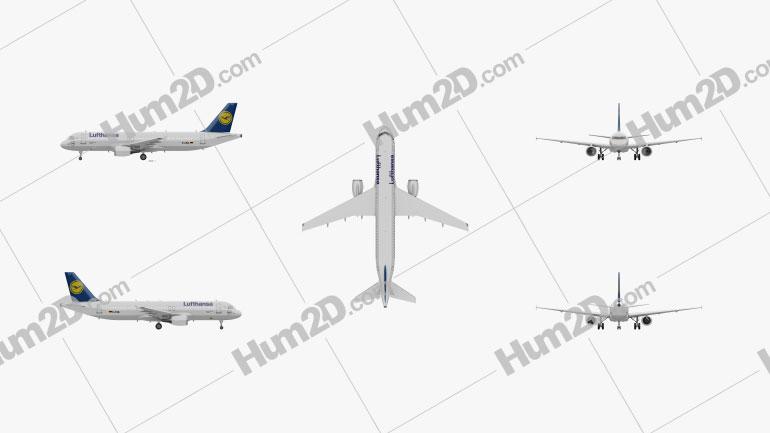 Airbus A320 Aircraft clipart