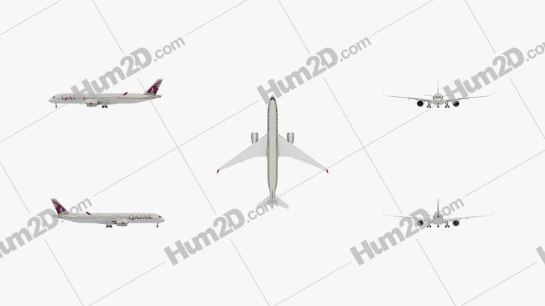 Airbus A350-900 Aircraft clipart