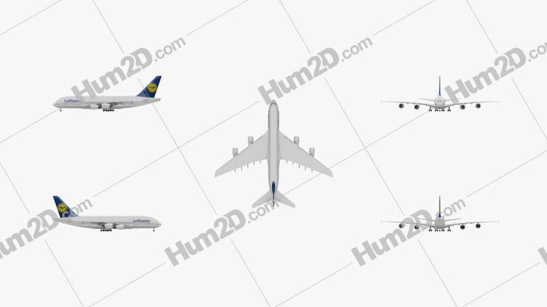 Airbus A380 Aircraft clipart
