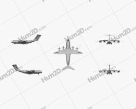 Airbus A400M Atlas Aircraft clipart