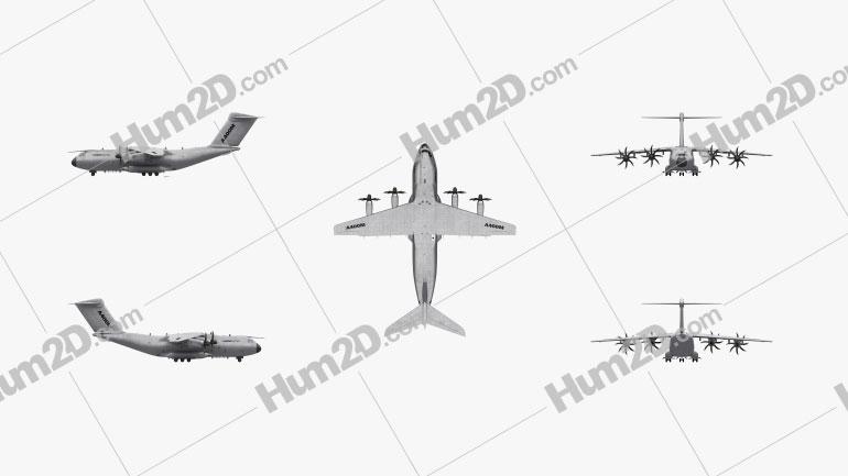 Airbus A400M Atlas Clipart Image