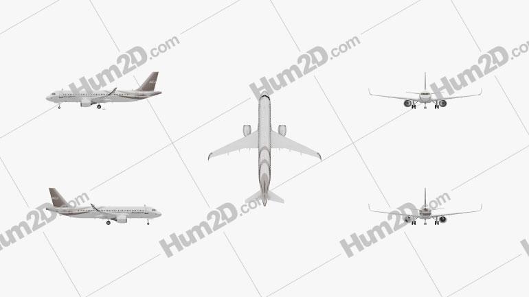 Airbus ACJ320neo Aircraft clipart
