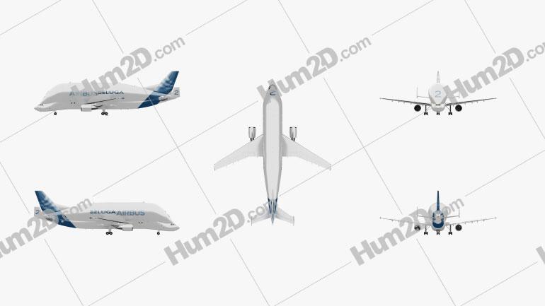 Airbus A300-600ST Beluga Aircraft clipart
