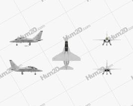 Alenia Aermacchi M-346 Master Aircraft clipart