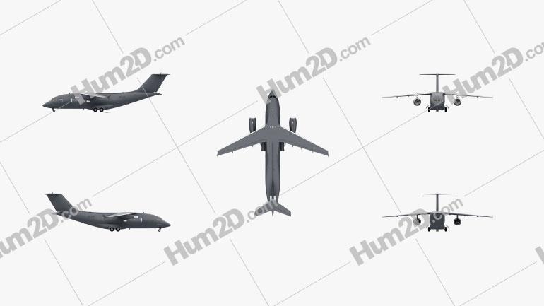 Antonov An-178 Aeronave clipart
