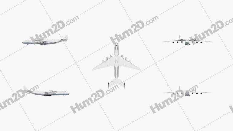 Antonov An-225 Mriya Aircraft clipart