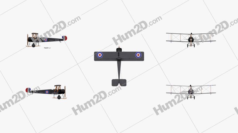 Avro 504 Flugzeug clipart