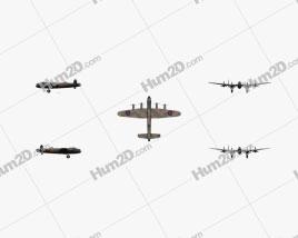 Avro Lancaster Flugzeug clipart
