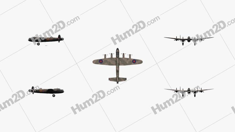 Avro Lancaster Aircraft clipart