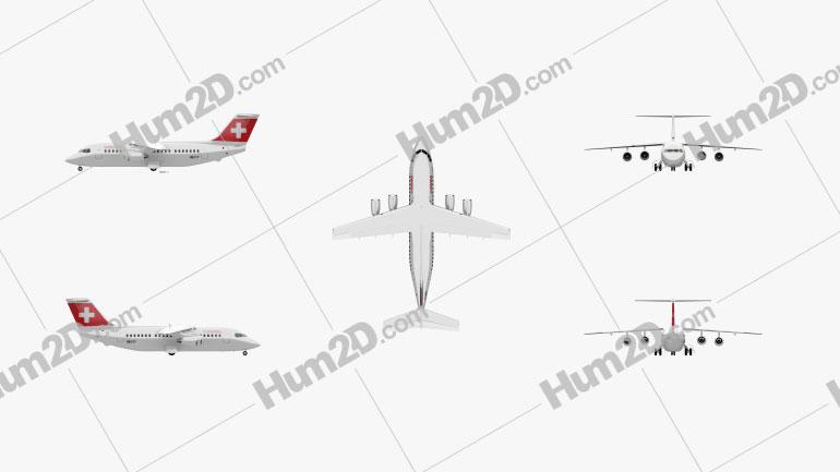 British Aerospace 146 Aircraft clipart