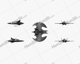 Batwing 1989 Aircraft clipart