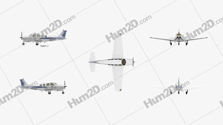 Beechcraft A36 Bonanza Aircraft clipart