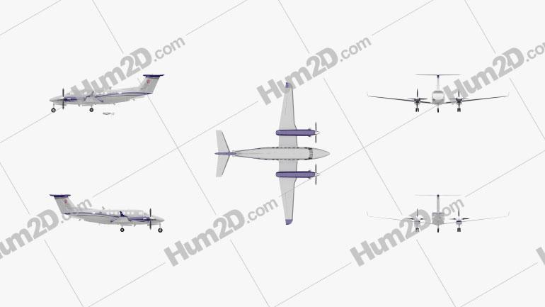 Beechcraft King Air 350i Aircraft clipart