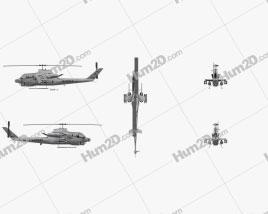 Bell AH-1 Cobra Angriffshubschrauber Flugzeug clipart