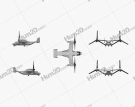 Bell Boeing V-22 Osprey Aircraft clipart