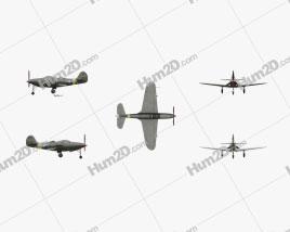 Bell P-39 Airacobra Aircraft clipart