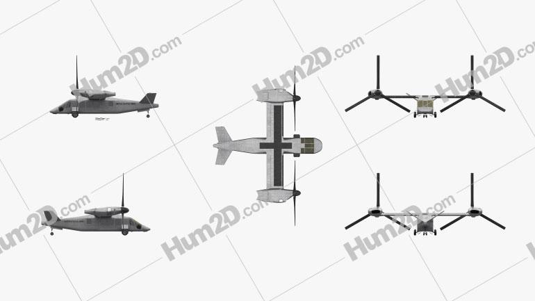 Bell V-280 Valor Vertical Helicóptero de Elevação Imagem Clipart