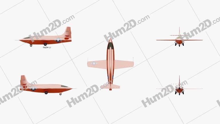 Bell X-1 Aircraft clipart